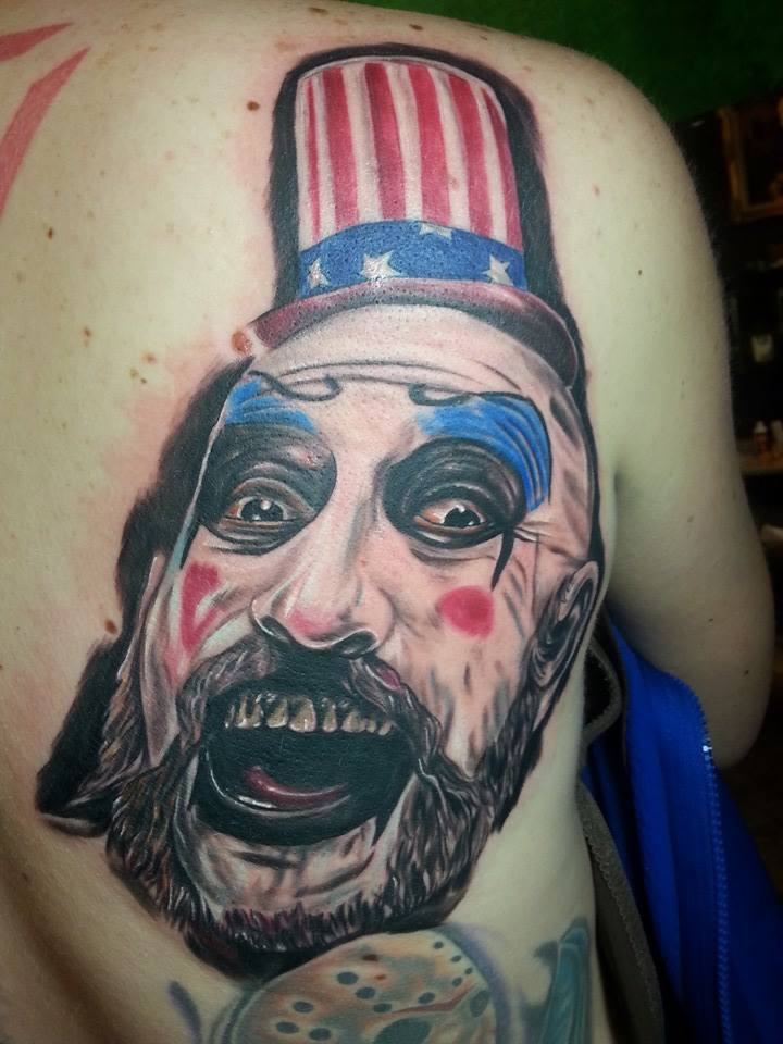 Color tattoo of Captain Spalding