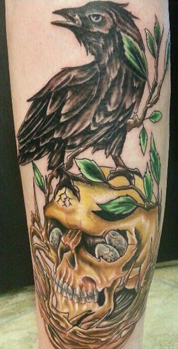 Skull and Crow designed by Lefty